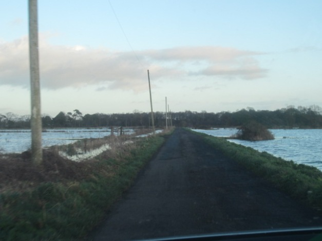 flooding around Mudgeley, Somerset (1/1/13)